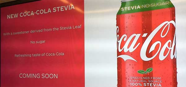 Stevia-only sweetened Coca-Cola on its way