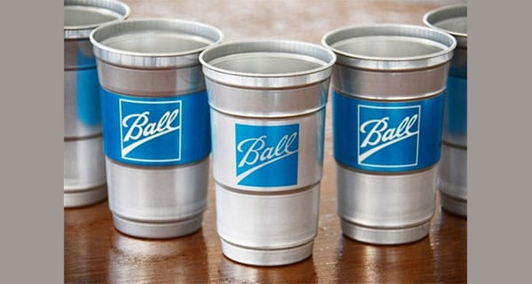 Ball unveils aluminium cup as alternative to plastic cups