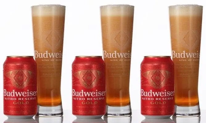 Nitro-infused lager