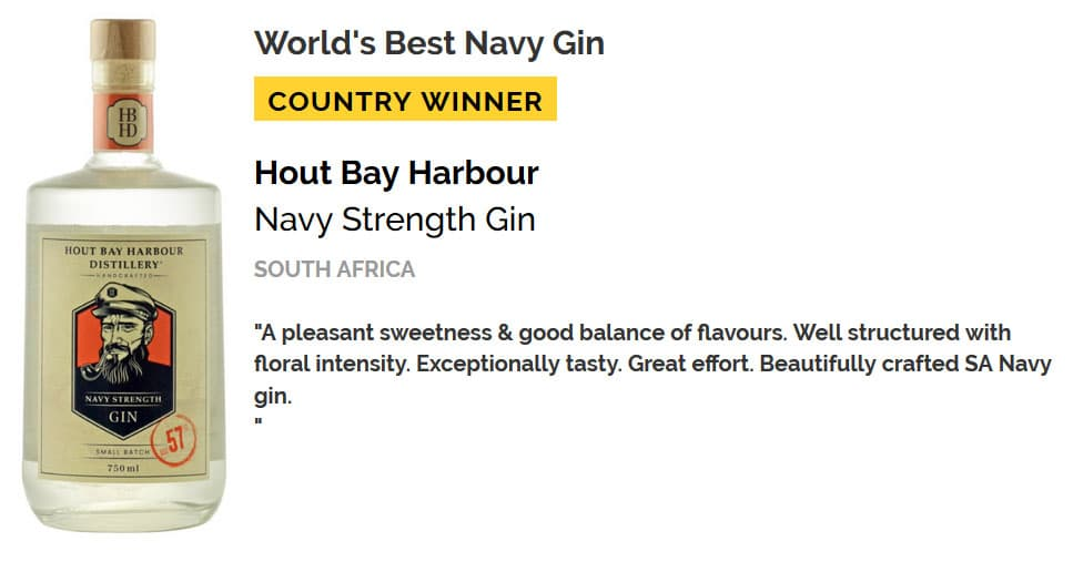 Hout Bay Harbour Gin