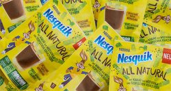 New Nesquik Natural cocoa powder in recyclable packaging
