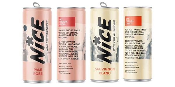 UK: Start-up Nice launches canned wines
