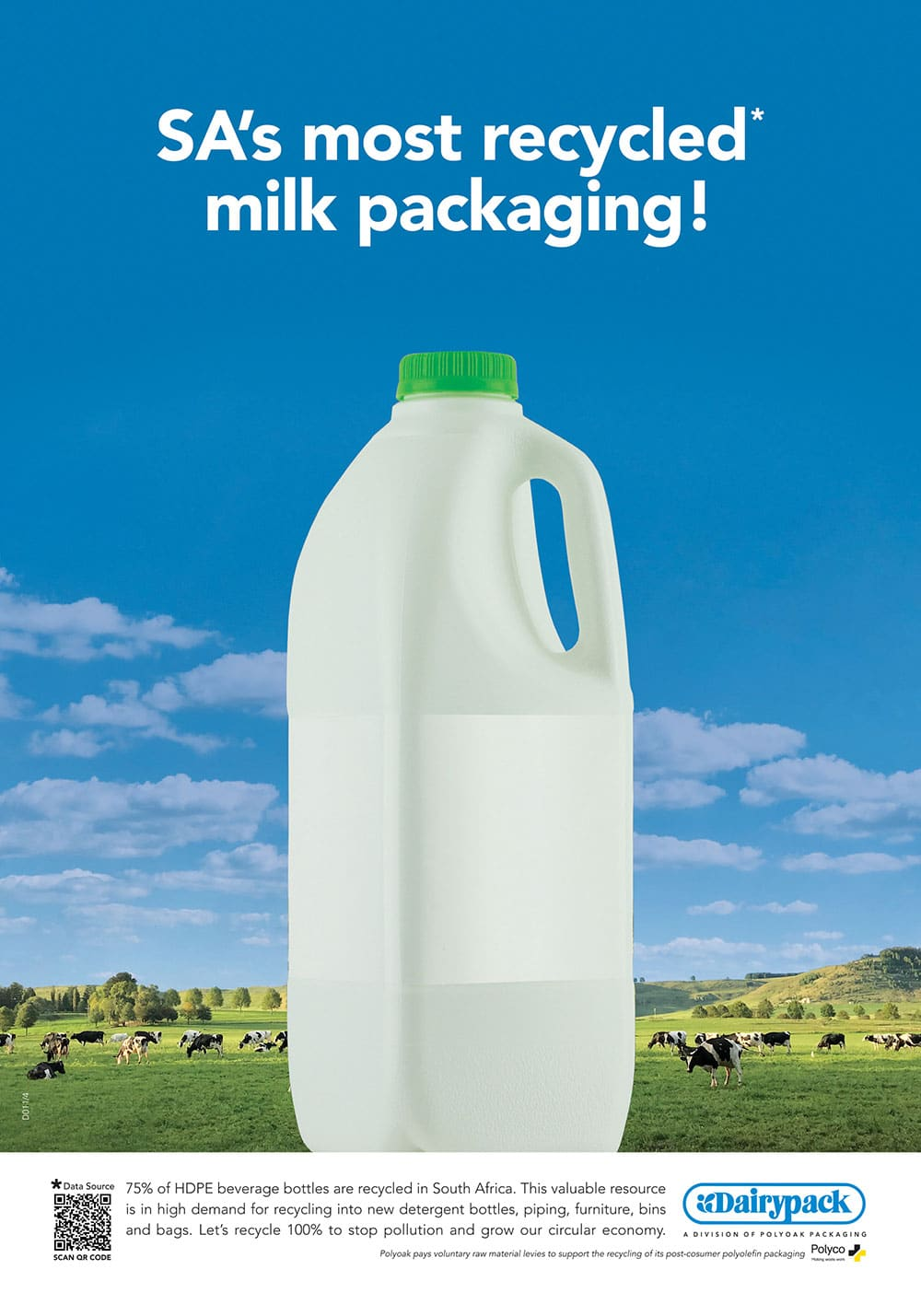 SA's most recycled milk packaging!