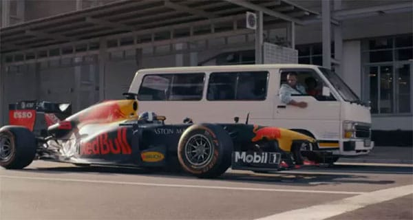 Red Bull absolutely smashing it at local advertising once again