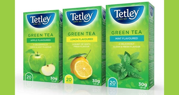 New flavoured green teas from Tetley